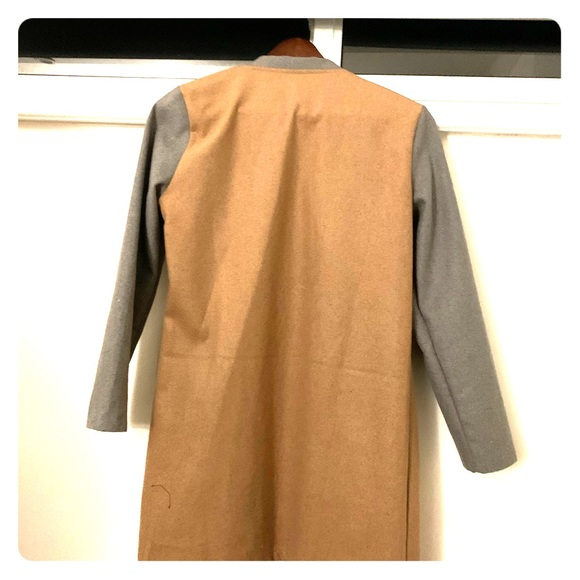 Jackets & Blazers - Light Wool Trench Jacket Color Block